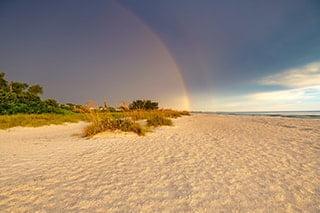 An image of Anna Maria Island Florida Rainbow